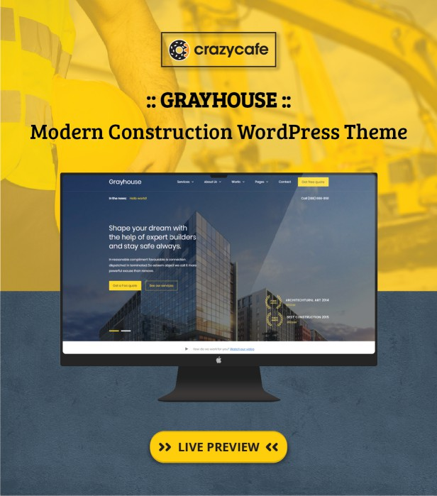 Grayhouse wordpress theme